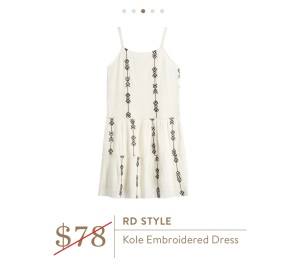 RD Style Kole Embroidered dress
