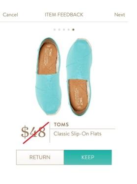toms blue flats