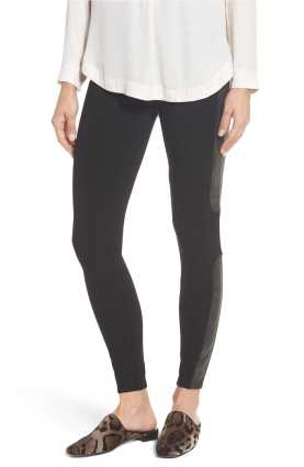 SPANX Faux Leather Panel Ponte Leggings.jpg
